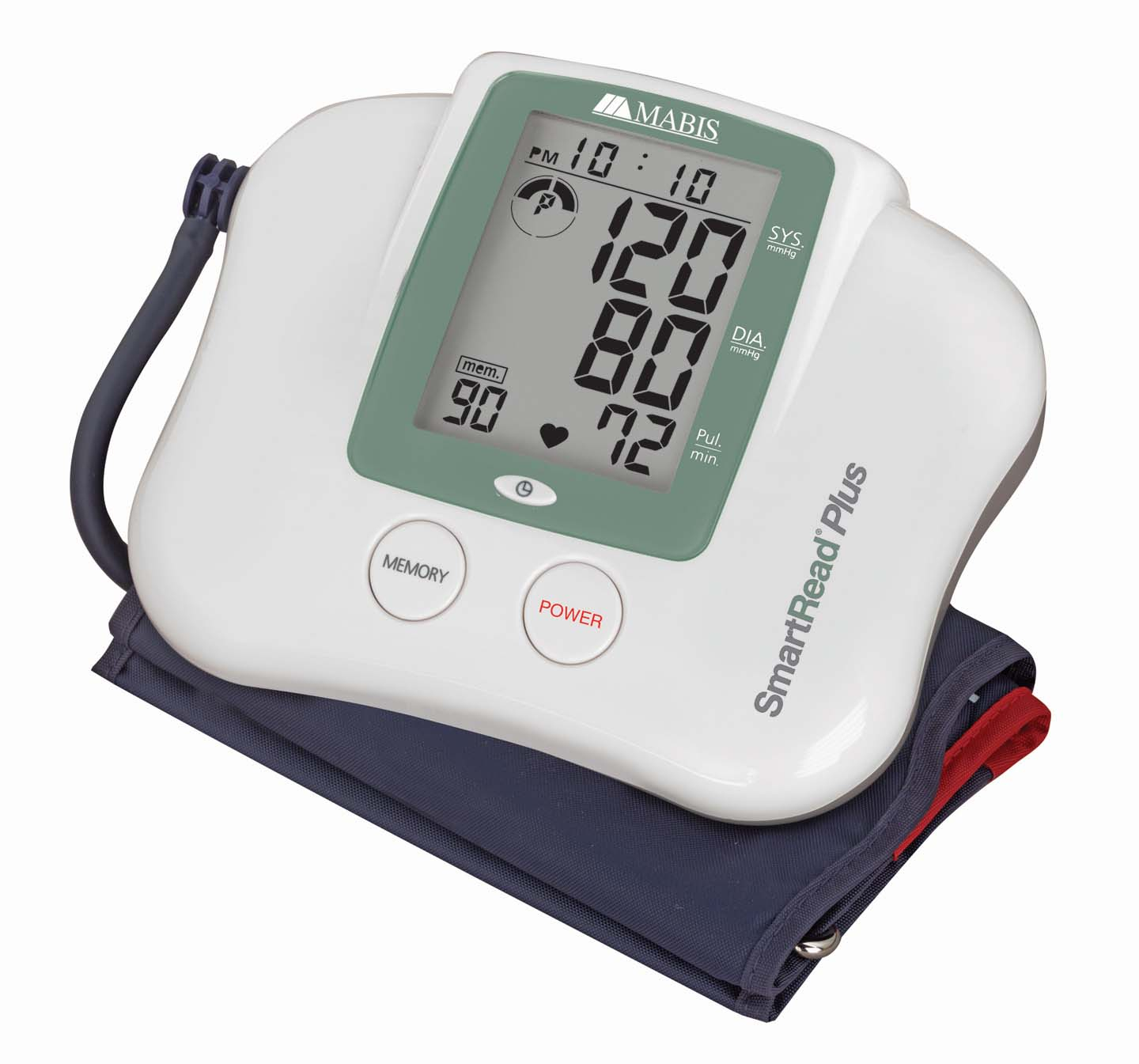 smartread plus digital blood pressure monitor with memory adult 04 310 001 lr ... a cardiac trace showing normal sinus rhythm, blood pressure and pulse