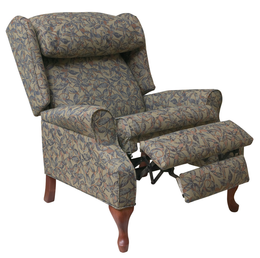 Gianna wing back recliner chairs mdrgiaqg2 medline for Wing back recliner chair