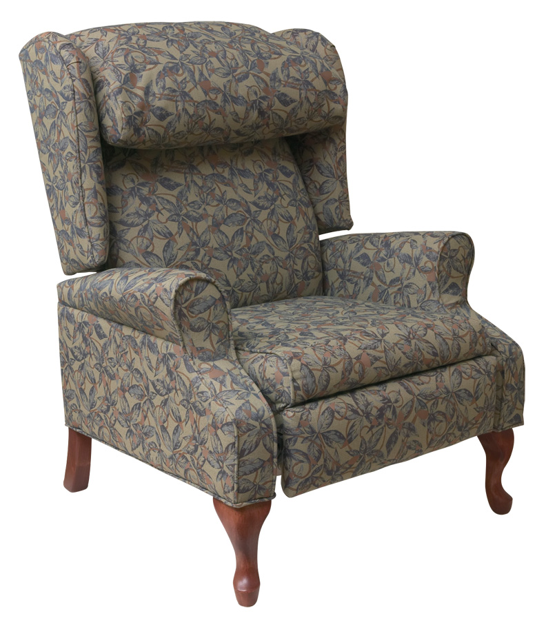 Furniture living room furniture recliner chair for Wing back recliner chair